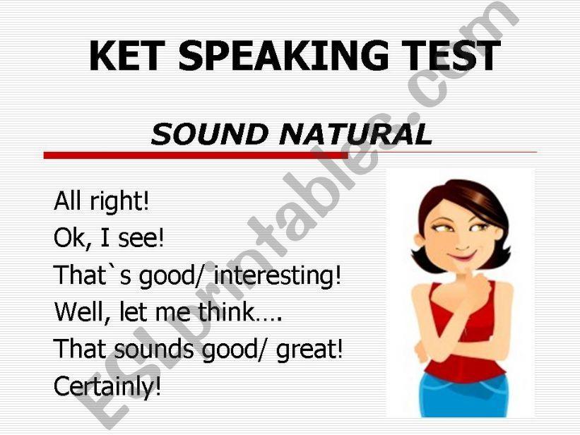 KET SPEAKING TEST powerpoint