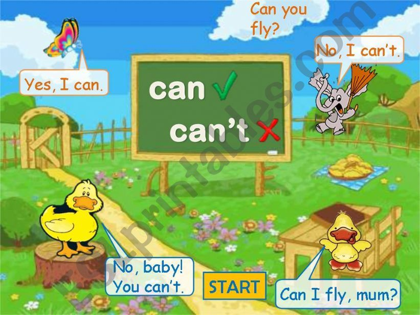 Can-Can´t Game Part 1 powerpoint