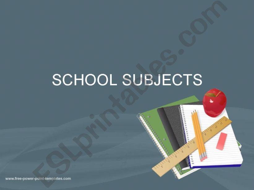 School Subjects powerpoint