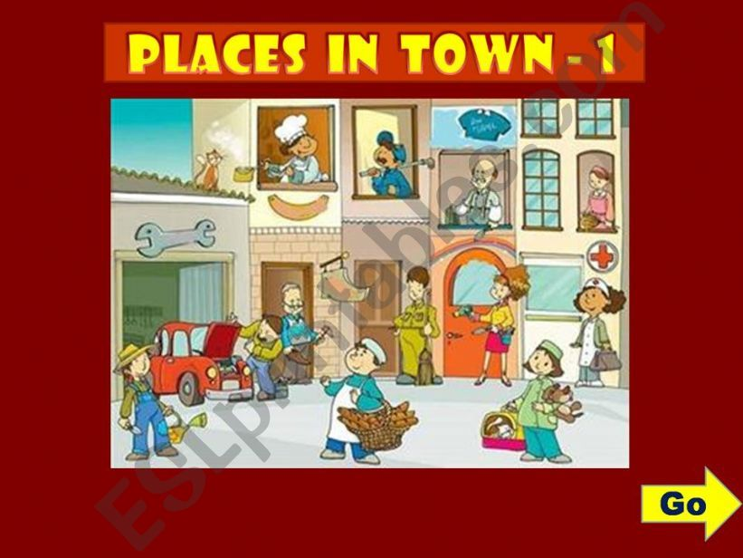 PLACES IN TOWN - GAME (1) powerpoint