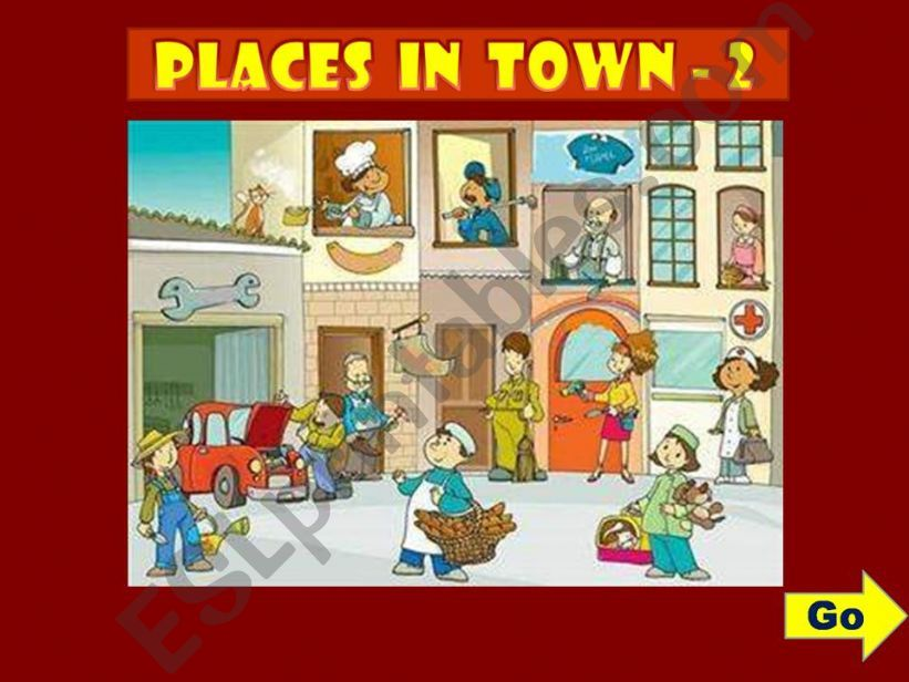 PLACES IN TOWN - GAME (2) powerpoint