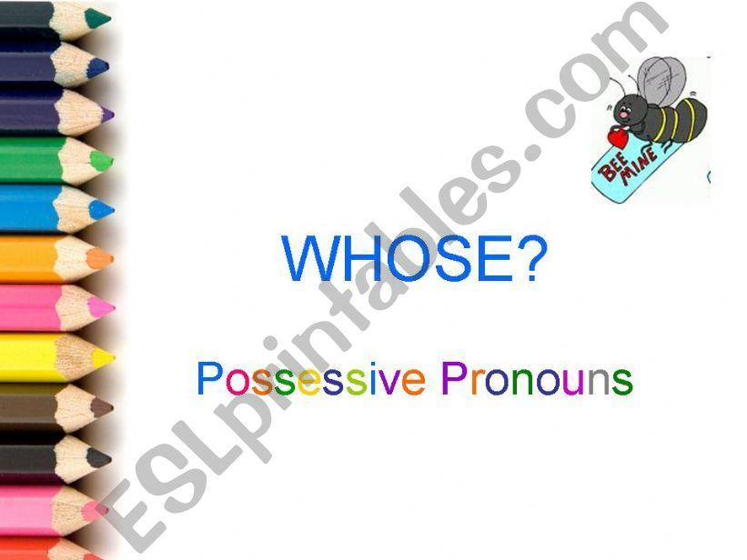 Possessive pronouns powerpoint