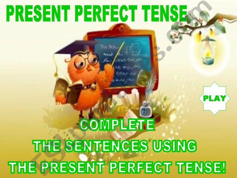 PRESENT PERFECT TENSE - GAME powerpoint