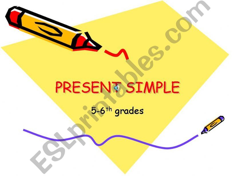 Present Simple Rules powerpoint