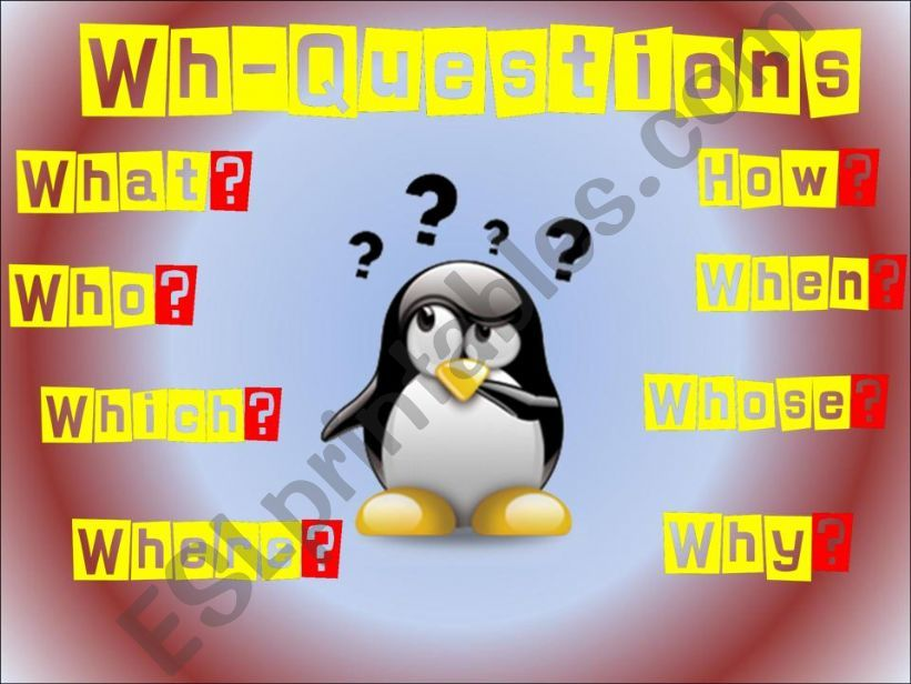 QUESTIONS: WH-QUESTIONS PRESENTATION PART 1/3