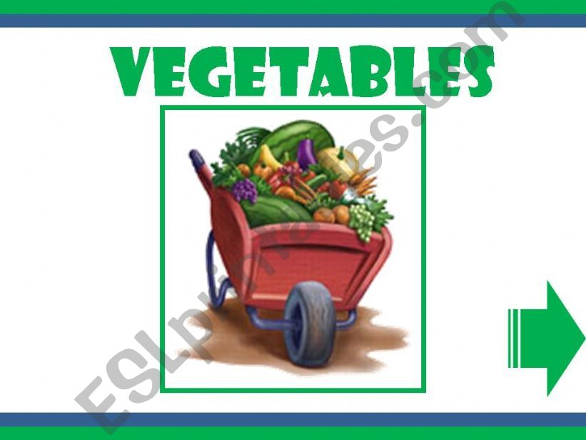 esl english powerpoints vegetables game