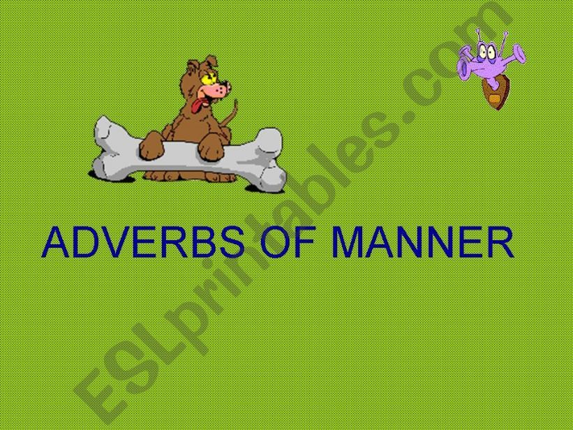 adverbs of manner powerpoint