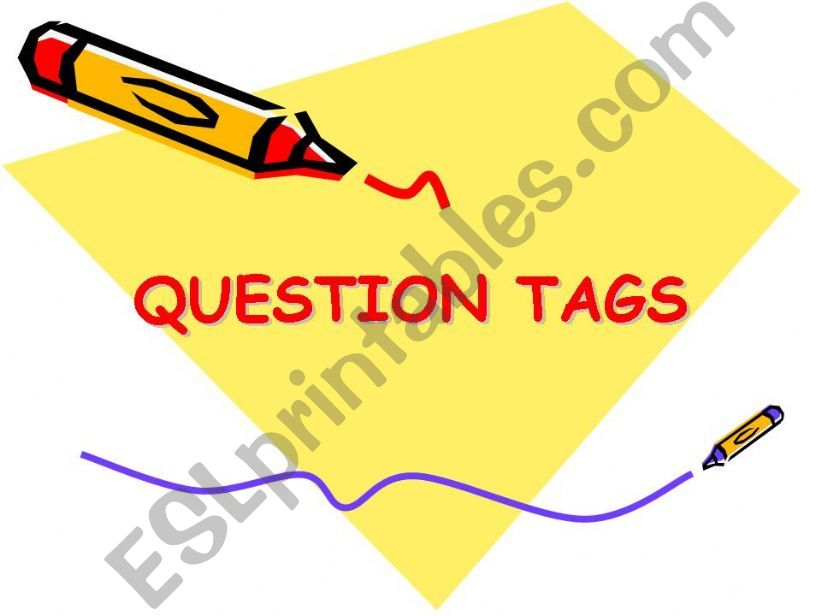 question tags powerpoint