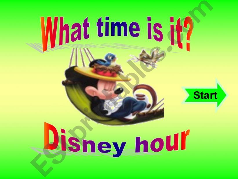 What time is it - Game with disney characters - Part 2