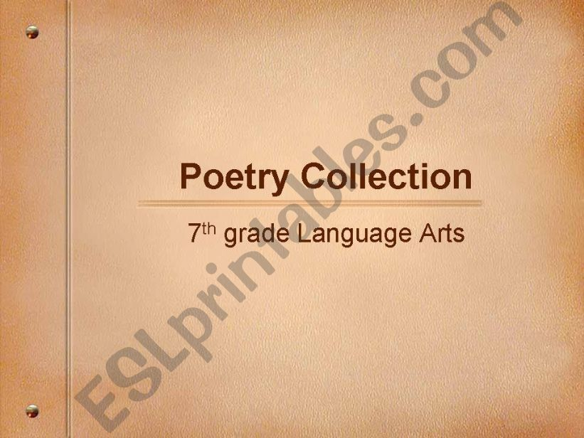 Poetry Collection powerpoint