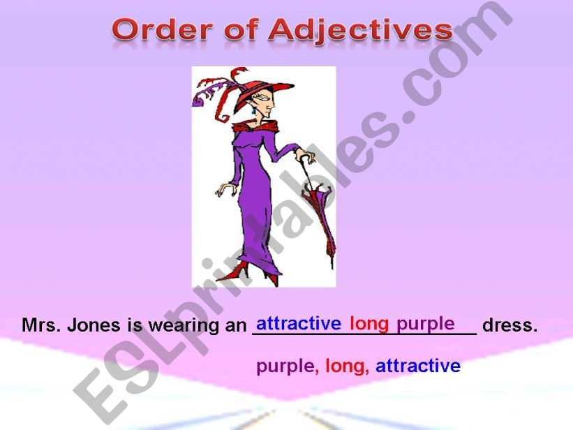 Order of Adjectives -Practice 1
