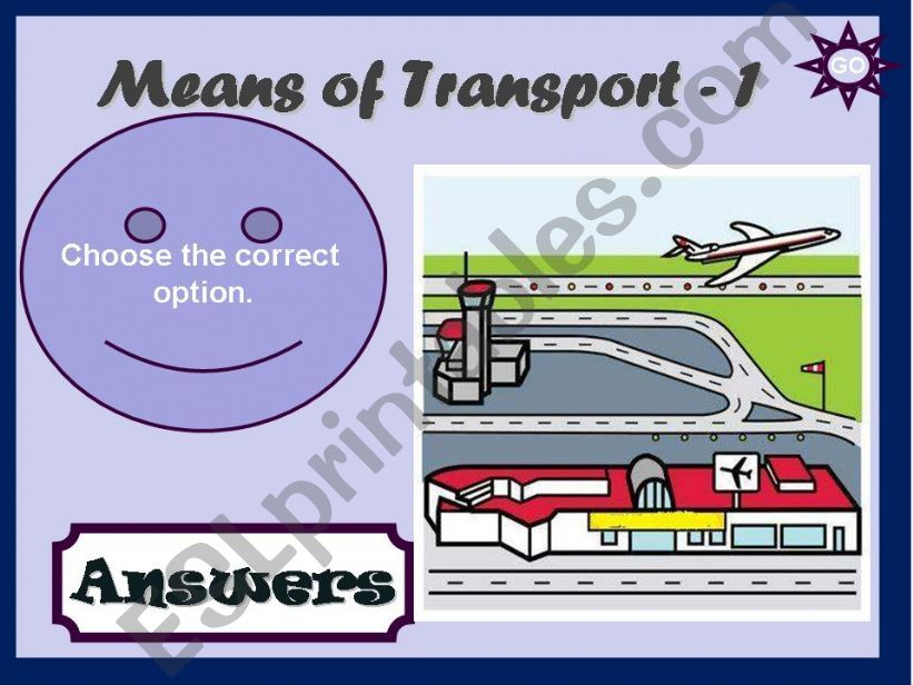 MEANS OF TRANSPORT - GAME (1) powerpoint