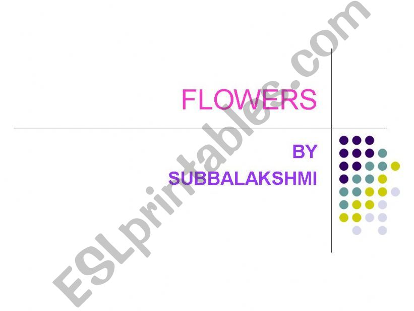 ESL - English PowerPoints: Flowers and their uses