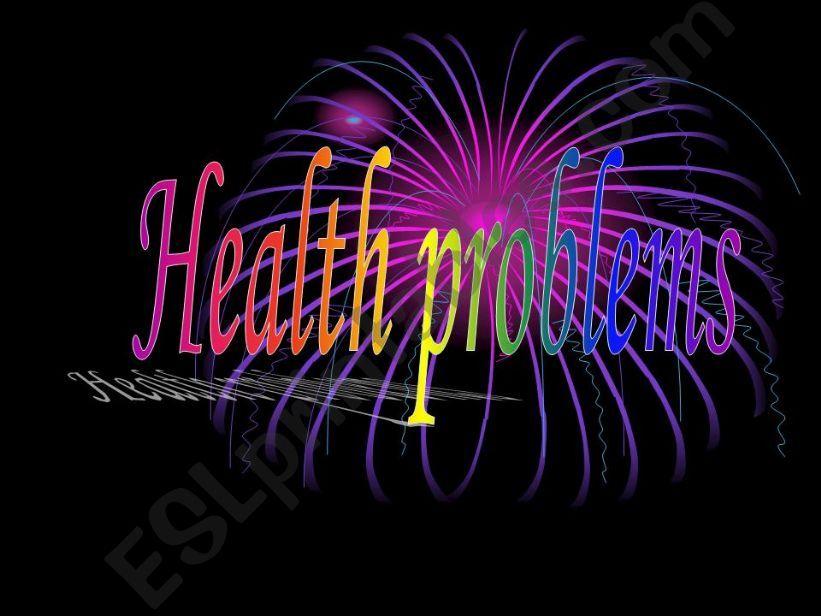 Health problems powerpoint