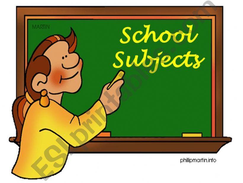 School subjects (Part 1) powerpoint