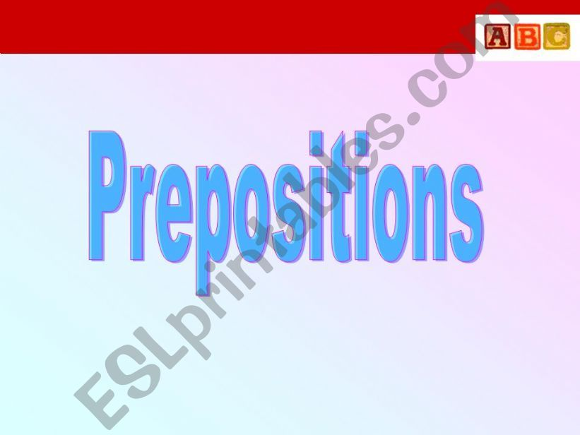 Prepositions 1 powerpoint