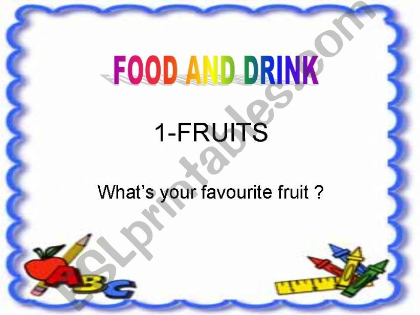 food and drink (fruits) powerpoint