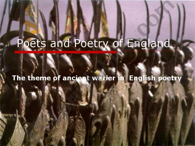 English Poets and Poetry powerpoint