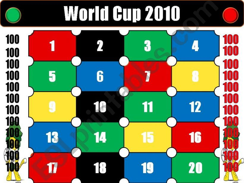 QUIZ - World Cup 2010 powerpoint