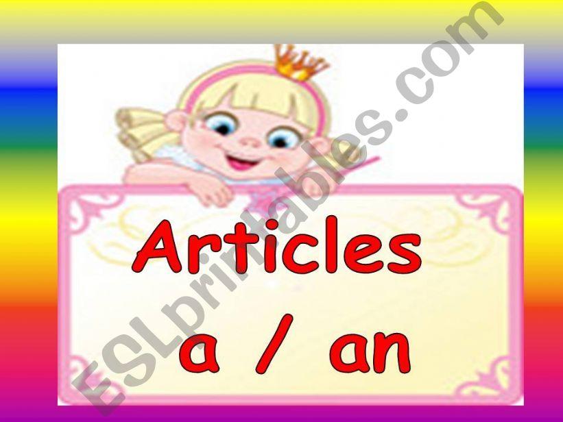 Articles ( a- an ) / part 1 powerpoint