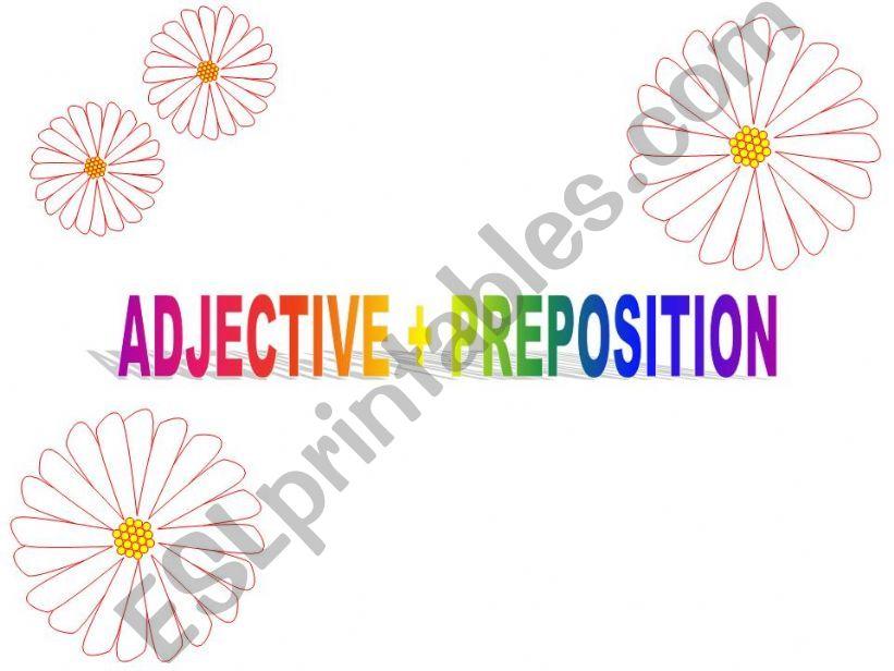 Adjective + Preposition powerpoint