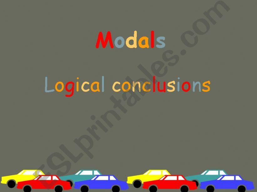 Modals - Logical Conclusions powerpoint