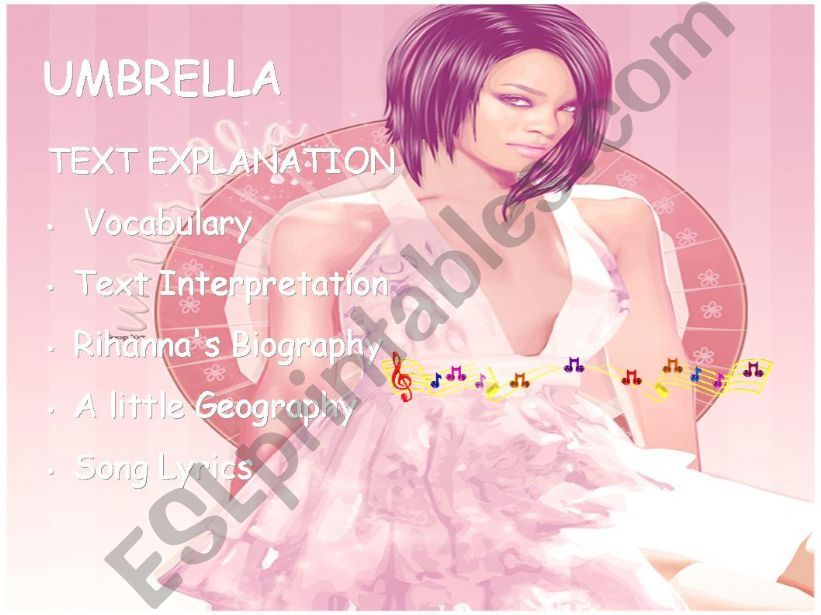 Umbrella Song Lesson Plan powerpoint