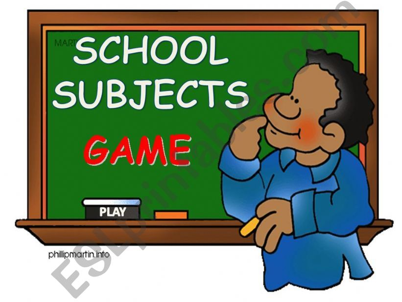 School subjects - game powerpoint