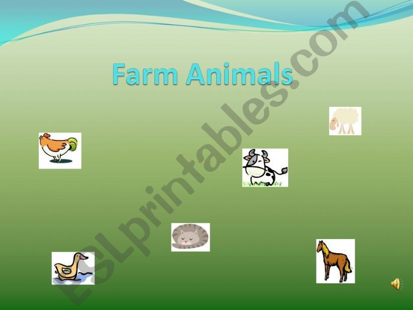 Farm Animals with words powerpoint