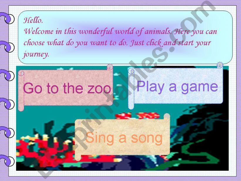 World of animals (fully editable)