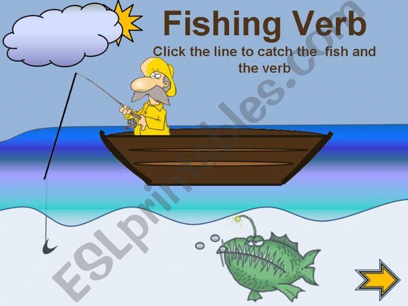 Fishing verbs  powerpoint