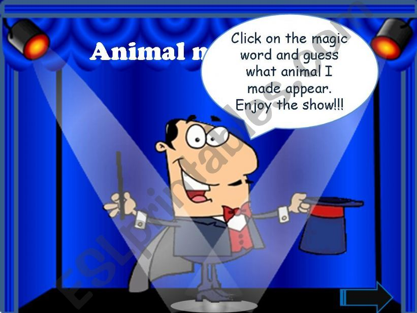 Animal magic show powerpoint