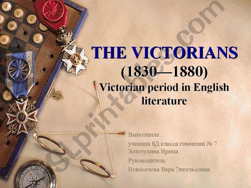 The Victorians powerpoint