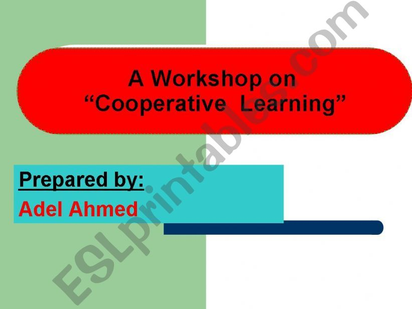 Cooperative learning workshop powerpoint