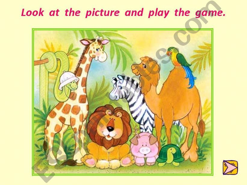 animals memory game powerpoint