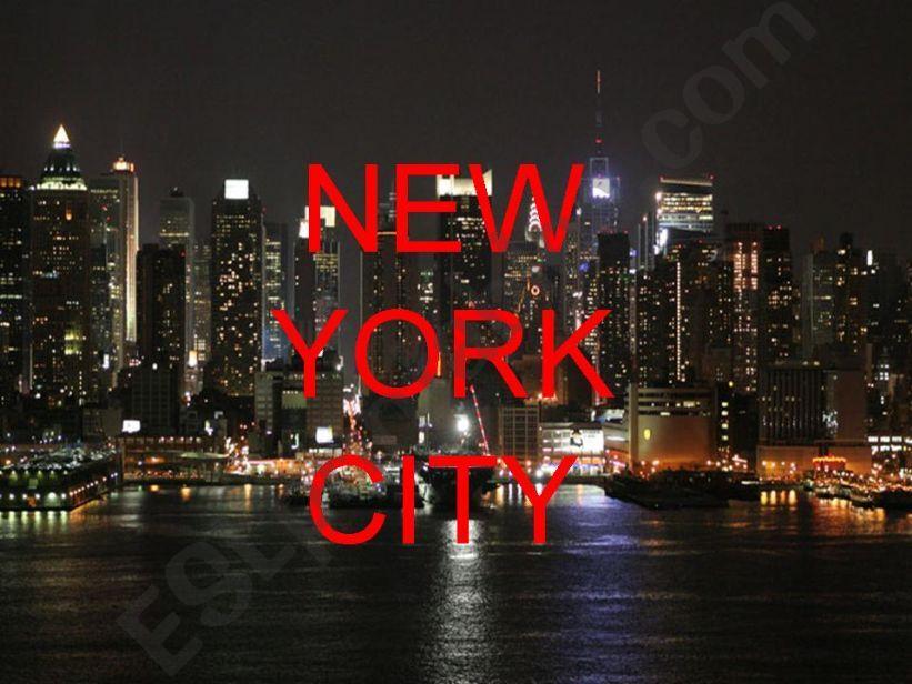 NEW YORK CITY powerpoint