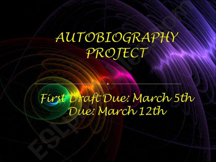 Autobiography Project powerpoint