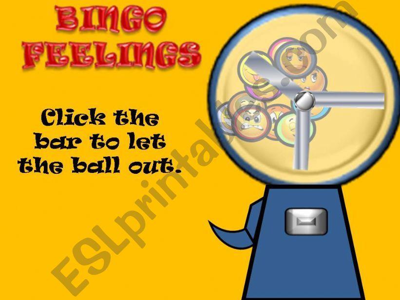 Bingo feelings powerpoint