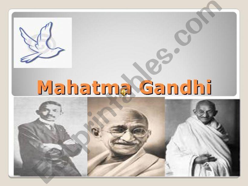 Mahatma Gandhi powerpoint