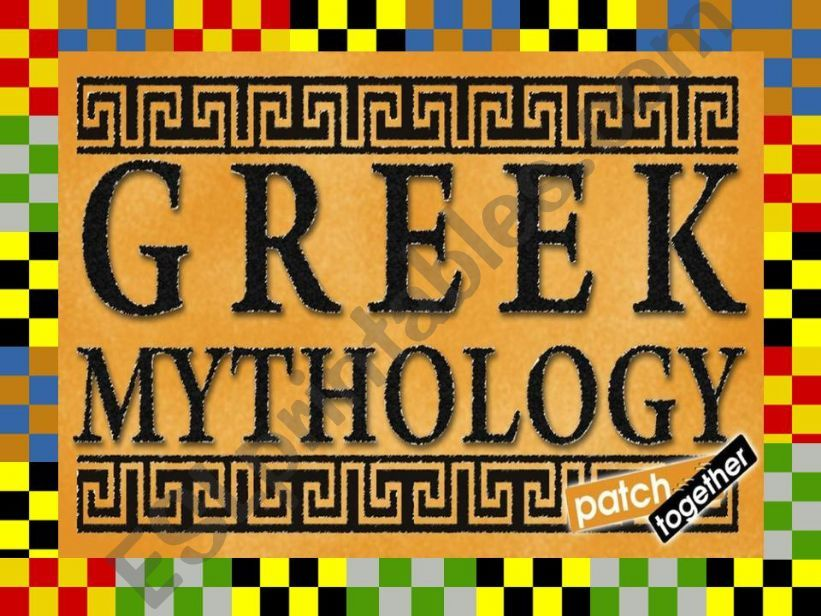 GREEK MYTHOLOGY PART 1 powerpoint