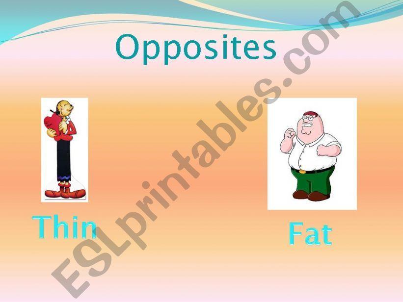 opposites powerpoint