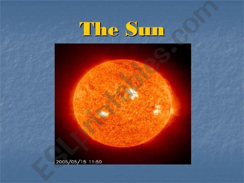 The Sun powerpoint