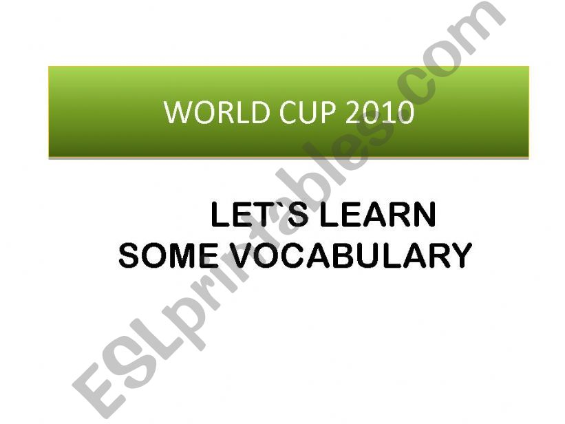 World Cup 2010 powerpoint
