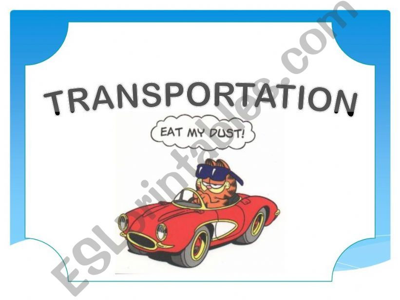 Means of transportation powerpoint