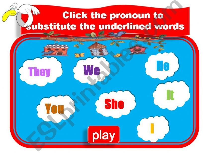 Game - Personal Pronouns powerpoint