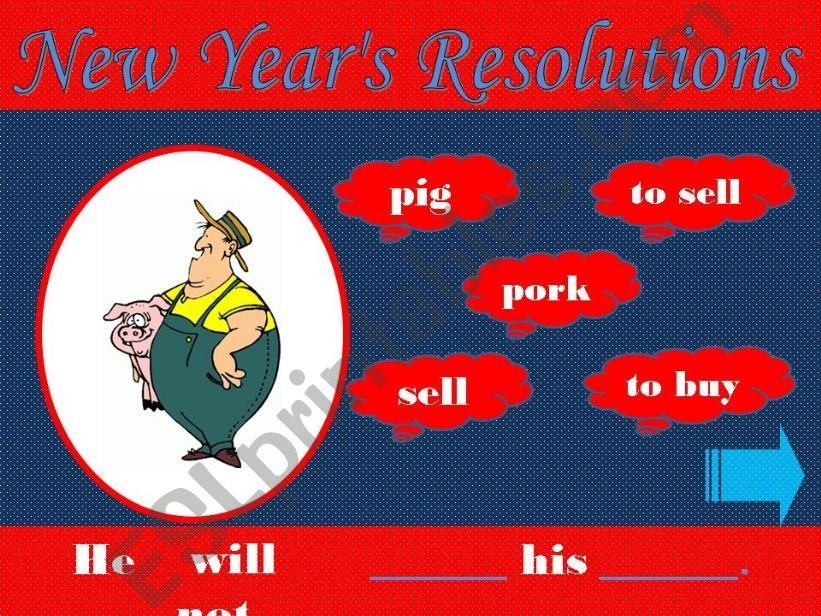 Game - New Year´s Resolutions powerpoint