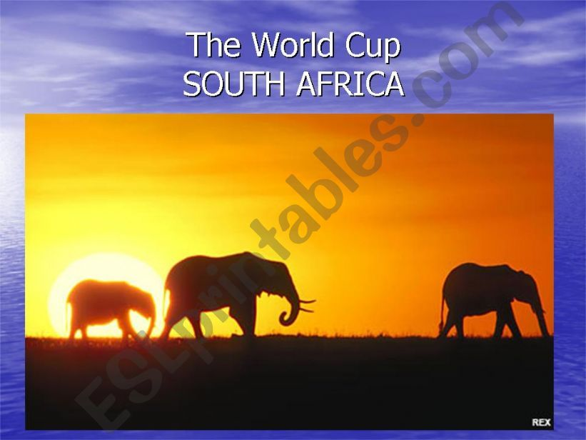 THE WORLD CUP - SOUTH AFRICA powerpoint