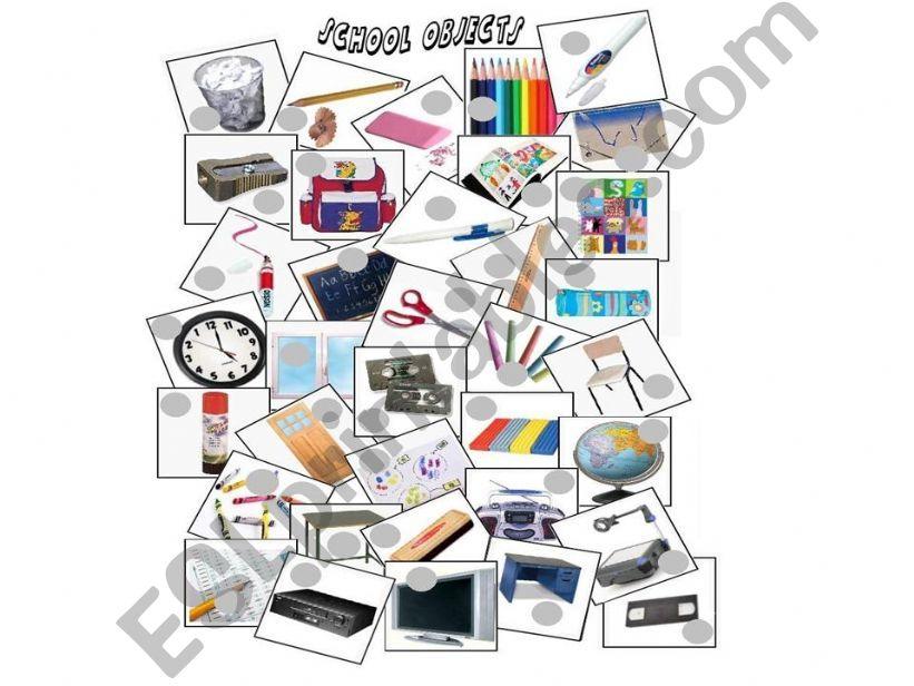 SCHOOL OBJECT PICTIONARY powerpoint