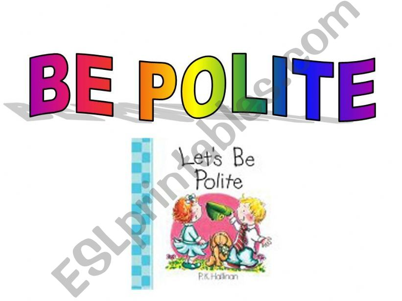 BE POLITE powerpoint