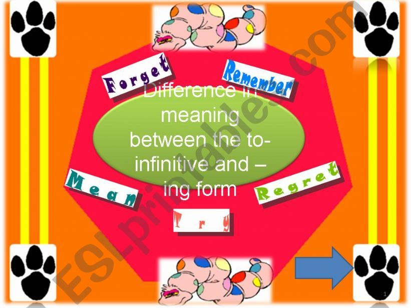 To infinitive or ing form powerpoint